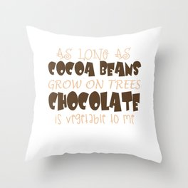 As Long As Cocoa Beans Grow On Trees Throw Pillow