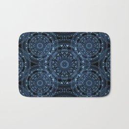 Blue Bohemian Pattern Bath Mat