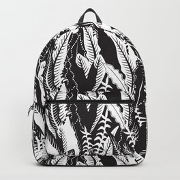 Inner Jungle in Black and White Backpack