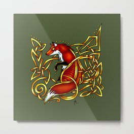 Celtic Fox Metal Print