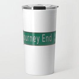 Journey End Road Sign Travel Mug