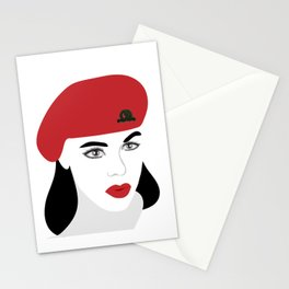 A woman soldier Stationery Cards