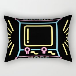 Arcade Mode Retro Game Over Console Rectangular Pillow