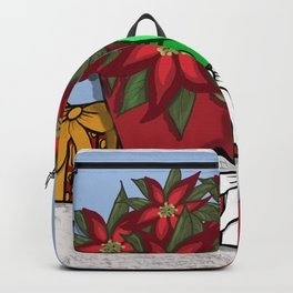 Poinsettias and Packages Backpack
