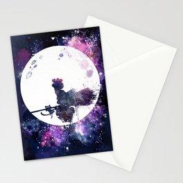 Kiki & Jiji Flying Over The Moon Kiki's Delivery Service Stationery Cards