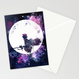 Kiki & Jiji Flying Over The Moon Kiki's Delivery Service Stationery Cards