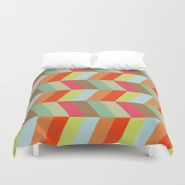 retro pattern and rocket 1 Duvet Cover