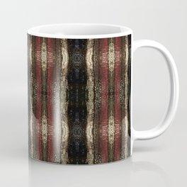 Bold Red Black and Gold Pattern Textured Stripe Print Coffee Mug