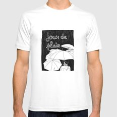 jour de pluie (rainy day) White MEDIUM Mens Fitted Tee
