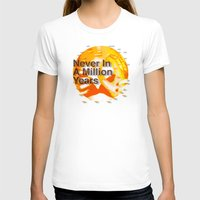 waldo T-shirts featuring Never In A Million Years < The NO Series (Orange) by Wayne Edson Bryan