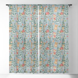 Merry Corgmess Sheer Curtain