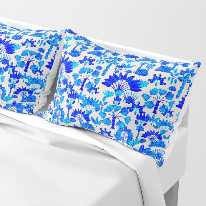 Exotic Garden Blue Pillow Sham