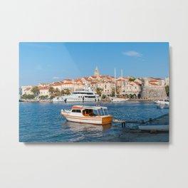 Marina of Korcula city - Croatia Metal Print