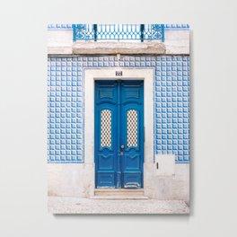 The blue door of Lisbon | Portugal fine art travel photography print Metal Print