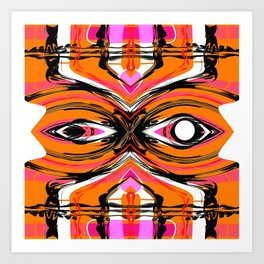 repeat orange & pink Art Print