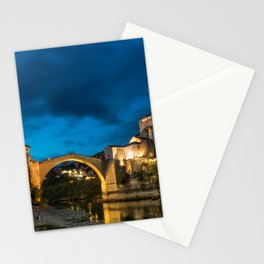 Mostar at night Stationery Cards