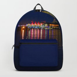 Vancouver Canada at night Backpack