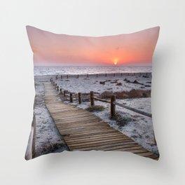 """""""To the beach...""""Cabo de Gata"""". Throw Pillow"""
