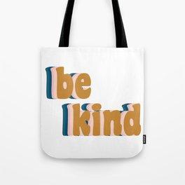 Be Kind Fun Retro Lettering Tote Bag