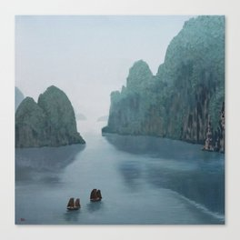 Ha Long Bay - original oil painting by Sarah Lynch Canvas Print