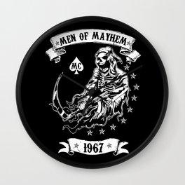 Men of Mayhem mc Wall Clock