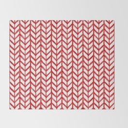 Shibori Chevrons - Peppermint Throw Blanket