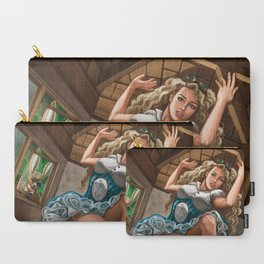 Steampunk Alice in Wonderland Drink Me Carry-All Pouch