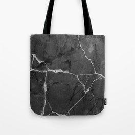 Black minimal marble Tote Bag