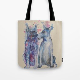 Ink Animals of Africa - Township Dogs Tote Bag