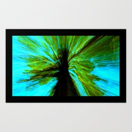 the negative tree Art Print