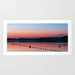 Beautiful sunset over the lake #3 Art Print