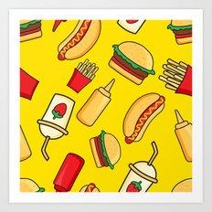 tasty food Art Print