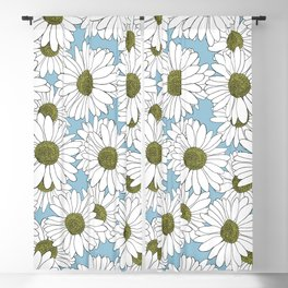 Daisy Blue Blackout Curtain
