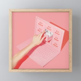 Computer Files Framed Mini Art Print