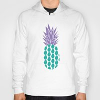 pineapples Hoodies featuring Pineapples  by Ashley Hillman