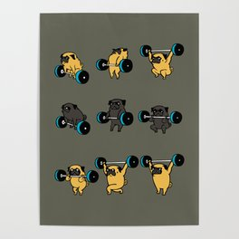 OLYMPIC LIFTING PUG Poster