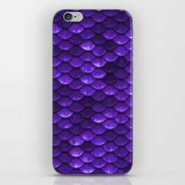 Purple Mermaid Tail Scales iPhone Skin