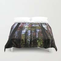 daria Duvet Covers featuring trees by Dar'ya Vlasova