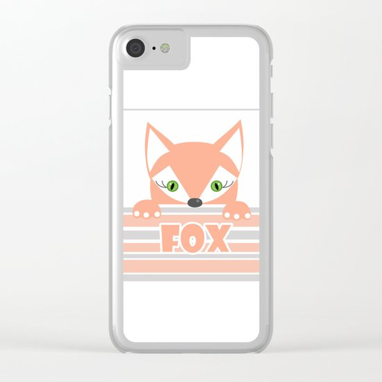 Little curious Fox . Clear iPhone Case