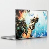 kingdom hearts Laptop & iPad Skins featuring Kingdom Hearts _ Sora  by KhalilKhalidy