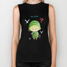 Hey Listen! Cute Link From Zelda Kawaii :) Biker Tank