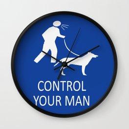 Control your man Wall Clock