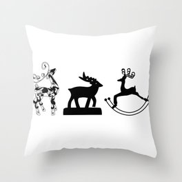 More Cute Reindeer! Throw Pillow