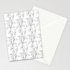 Floral Drawing in black and white Stationery Cards