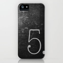 NUMBER 5 BLACK iPhone Case