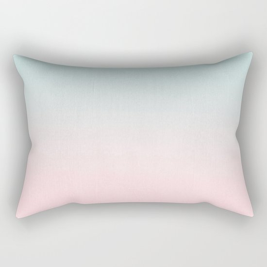 Ellie - ombre fade pastel pink and mint gender neutral nursery baby girly trend style Rectangular Pillow