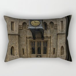 Clock on the Waterloo Block at Tower of London Home of the Crown Jewels Rectangular Pillow