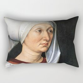Portrait of Barbara by Albrecht Dürer Rectangular Pillow