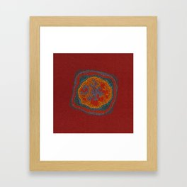 Growing - Lamium - plant cell embroidery Framed Art Print