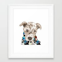 pit bull Framed Art Prints featuring a pit bull day by bri.buckley